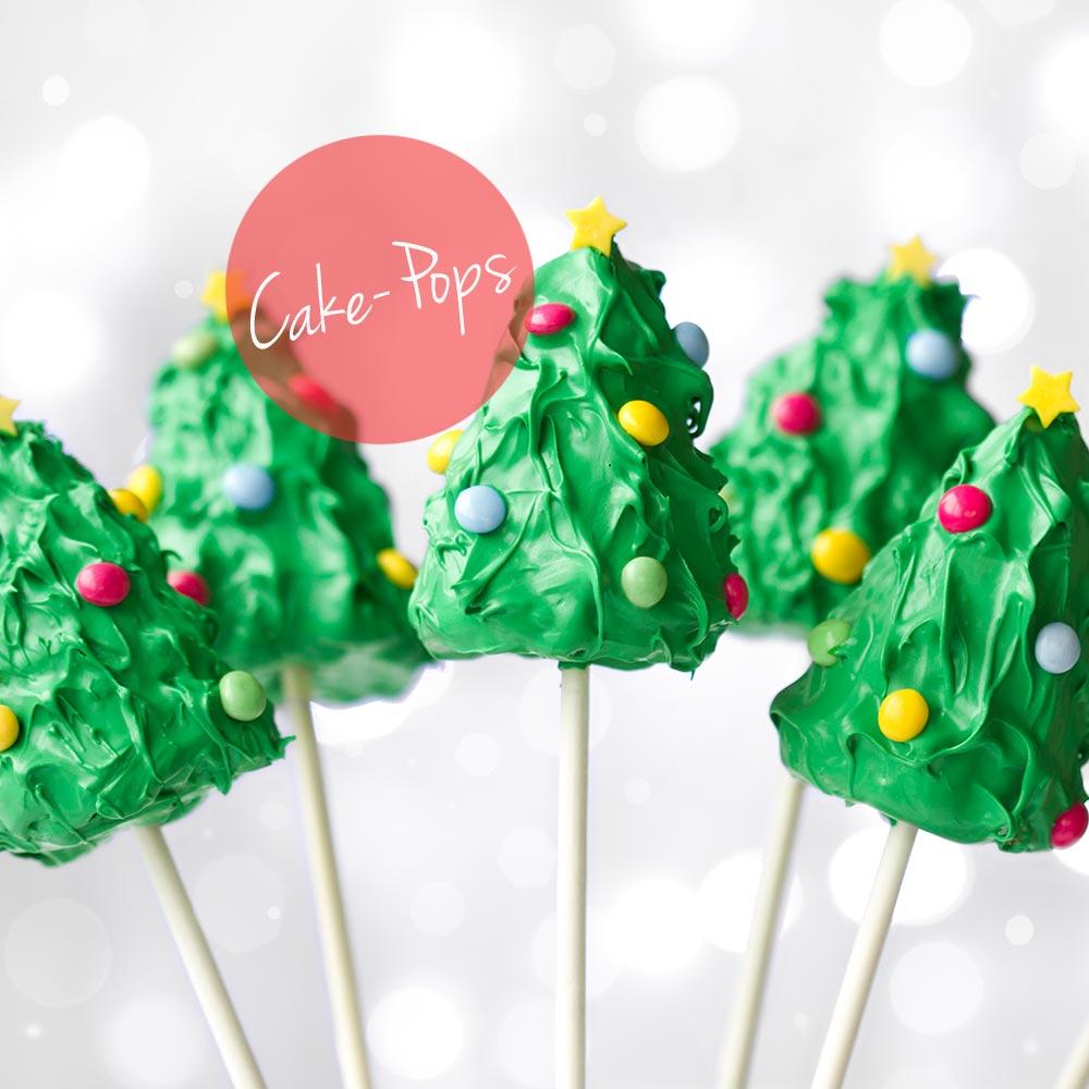 Tannenbaum Cake Pops mit Smarties / Lilli & Luke